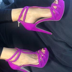 Jessica Simpson Fuschia heels, size 7.5